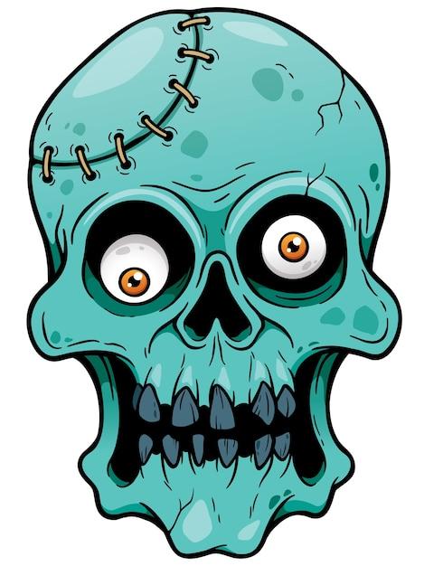 Dessin Animé Tête De Zombie Télécharger Des Vecteurs Premium