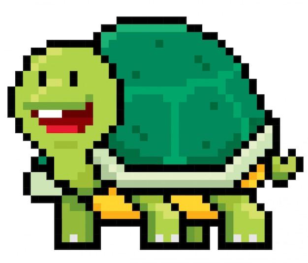 Dessin Animé Tortue Pixel Design Télécharger Des Vecteurs