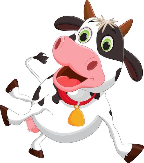 Dessin Anime De Vache Heureuse Telecharger Des Vecteurs Premium