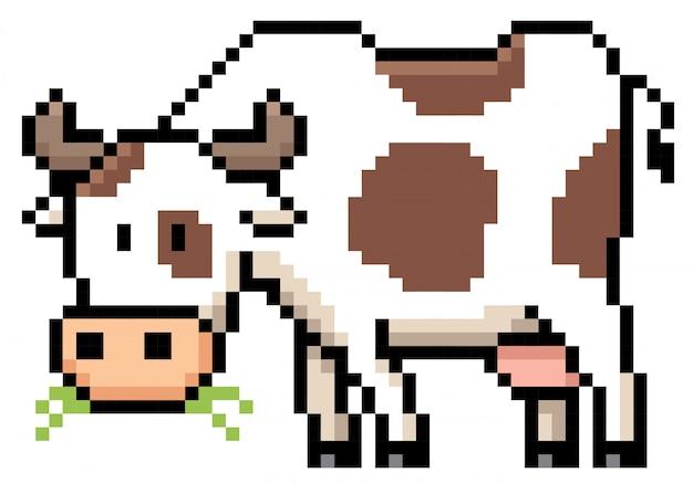 Dessin Animé Vache Pixel Design Télécharger Des Vecteurs