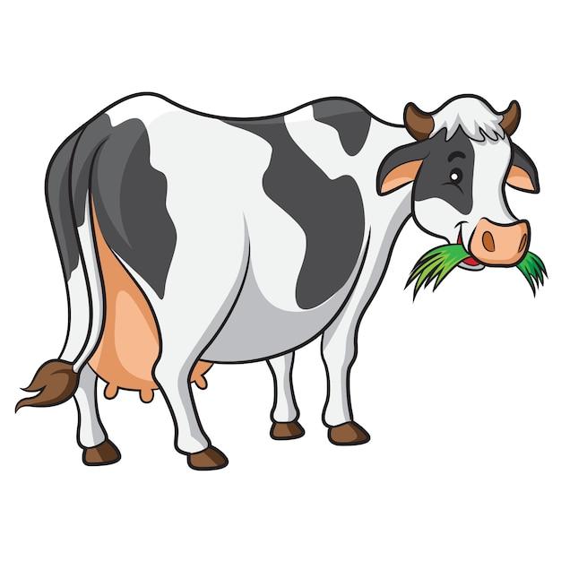 Dessin animé vache Vecteur Premium