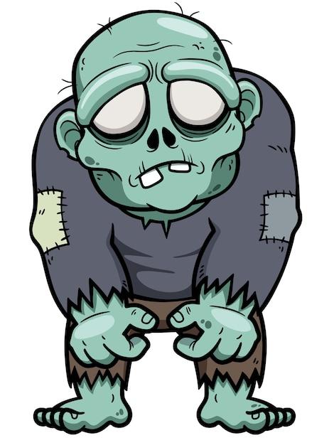 Dessin animé zombie   Télécharger des Vecteurs Premium