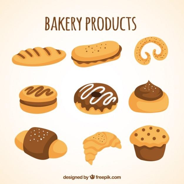 Dessin Boulangerie dessin collection de produits de boulangerie   télécharger des