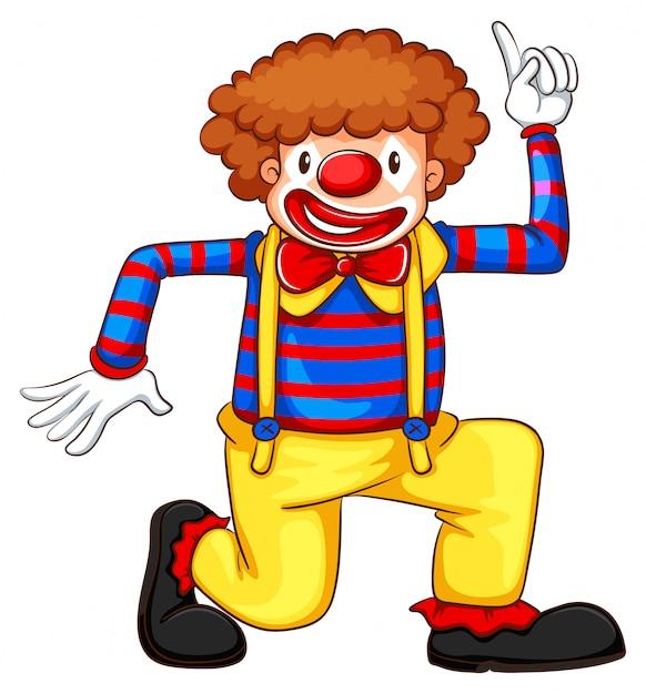 Un Dessin Coloré D'un Clown Vecteur gratuit