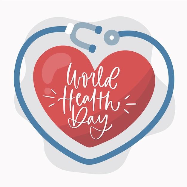 Dessin Coloré De La Journée Mondiale De La Santé Vecteur gratuit