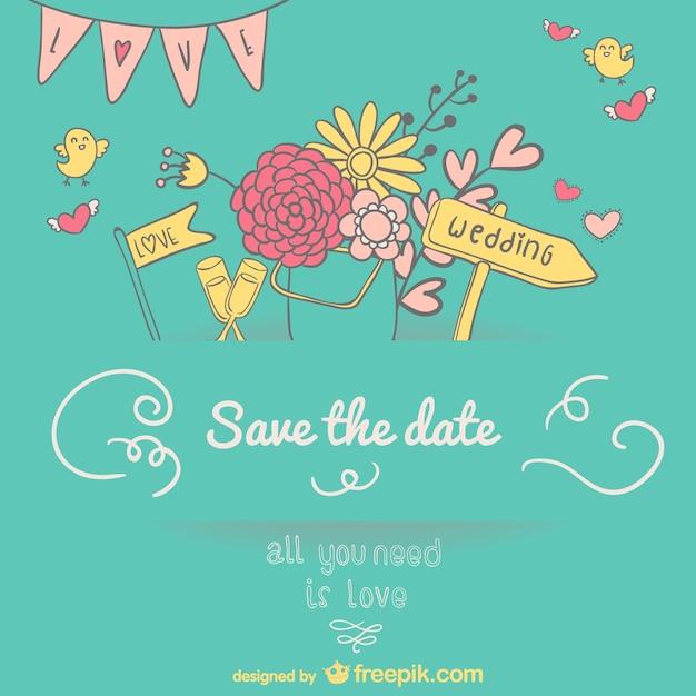Dessin d 39 invitation de mariage t l charger des vecteurs gratuitement - Dessin invitation ...