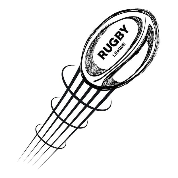 Dessin de la main ballon rugby design volant t l charger - Dessin de la main ...