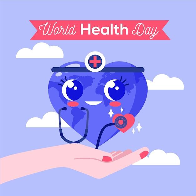 Dessin Du Thème De La Journée Mondiale De La Santé Vecteur gratuit