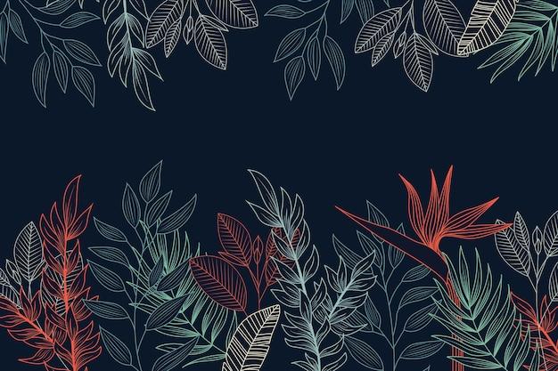 Dessin De Fleurs Sur Le Concept De Fond De Tableau Noir Vecteur gratuit