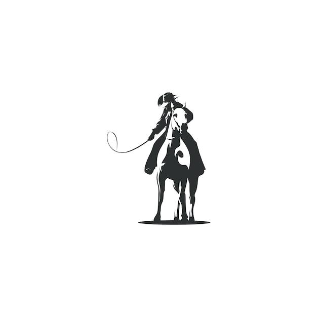 Dessin illustration de cow-boy isolé Vecteur Premium