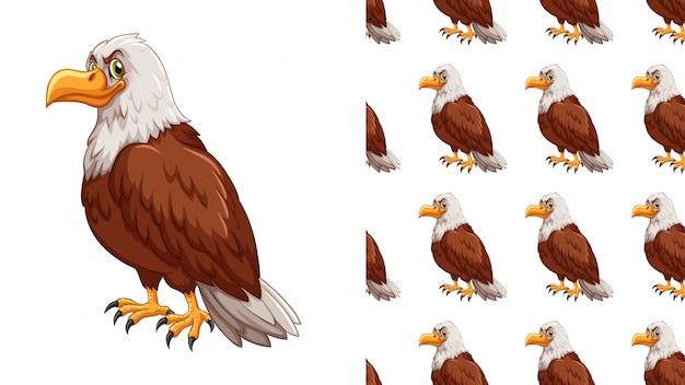 Dessin de modèle isolé aigle Vecteur gratuit