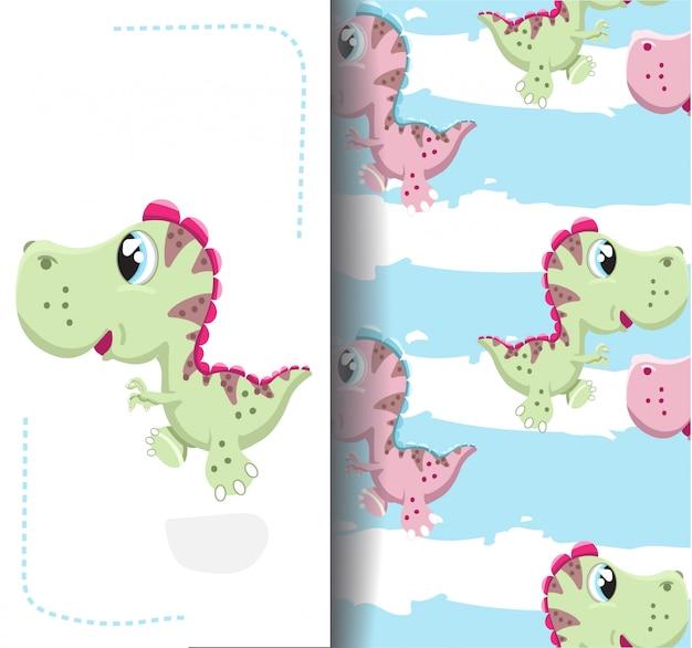 Dessin et modèle petit dinosaure Vecteur Premium
