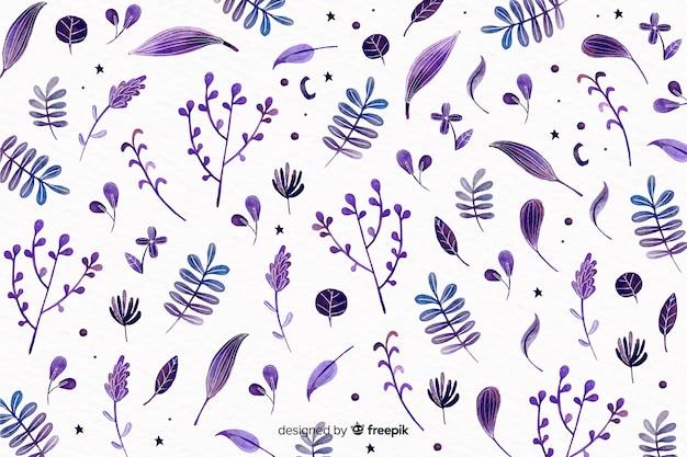 Dessin monochrome aquarelle floral Vecteur gratuit