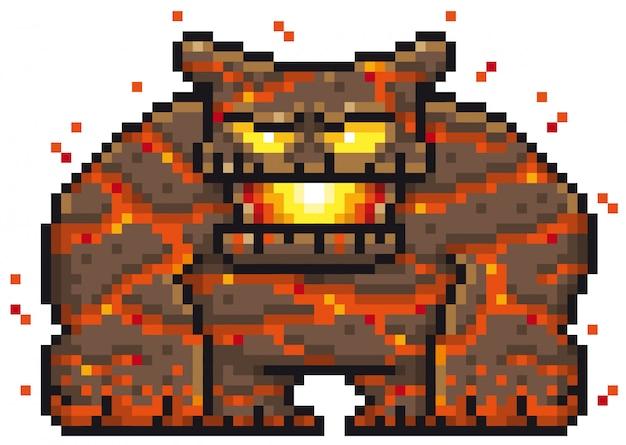 Dessin Monstre Pixel Télécharger Des Vecteurs Premium