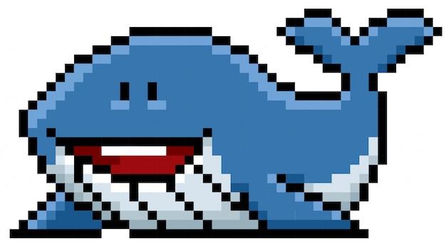 Dessin De Pixel De Baleine Télécharger Des Vecteurs Premium