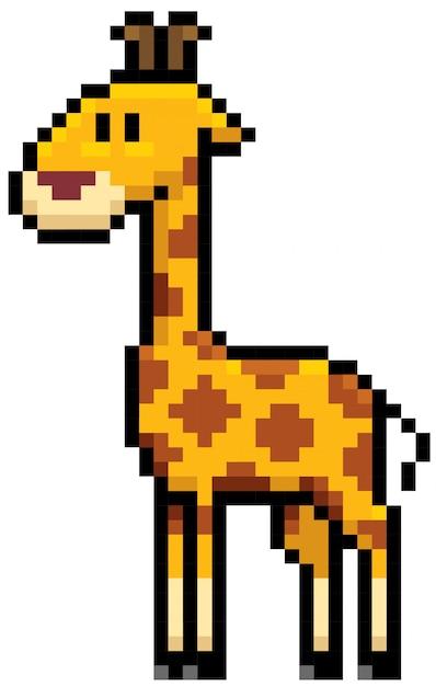 Dessin Pixel Girafe Télécharger Des Vecteurs Premium