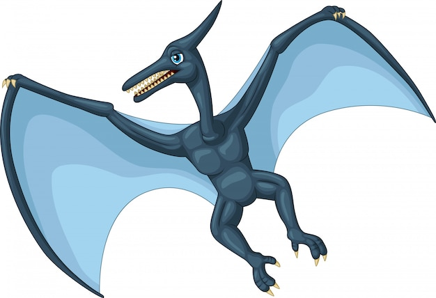 Dessin de ptérodactyle Vecteur Premium