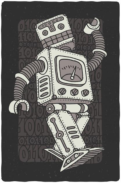 Dessin De Robot De Vecteur Drôle | Vecteur Gratuite