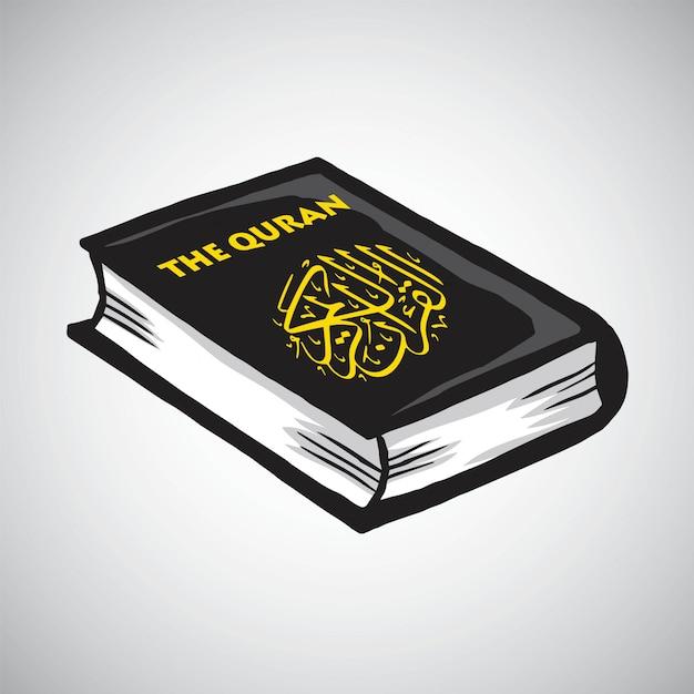 Dessin vectoriel du livre des musulmans al coran Vecteur Premium