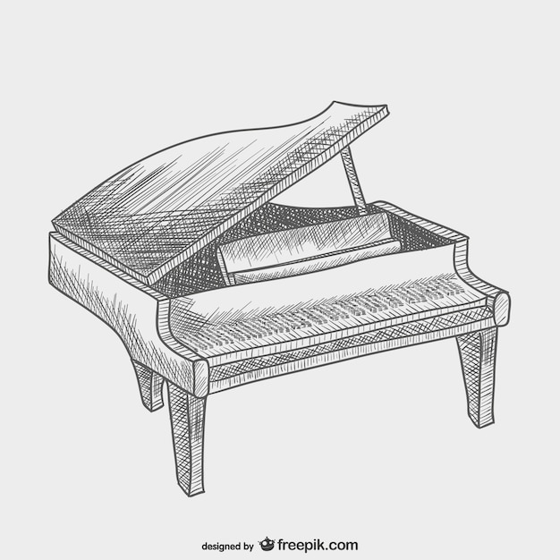 Dessin De Piano dessin vectoriel de piano   télécharger des vecteurs gratuitement
