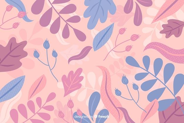 Dessinés à La Main Abstrait Floral Pastel Vecteur gratuit