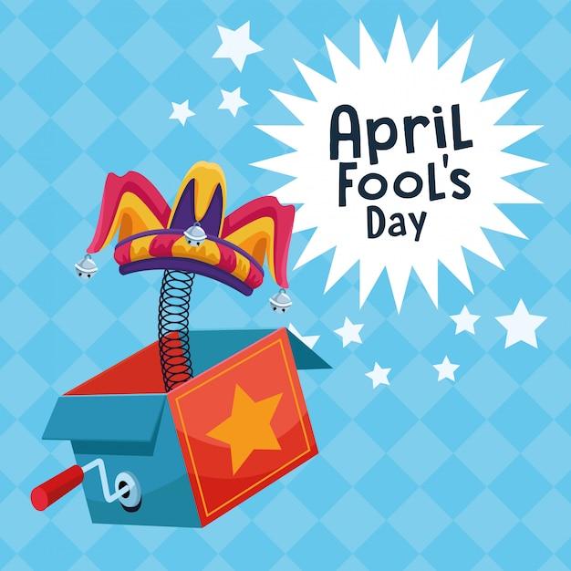 Dessins animés du jour d'avril Vecteur Premium