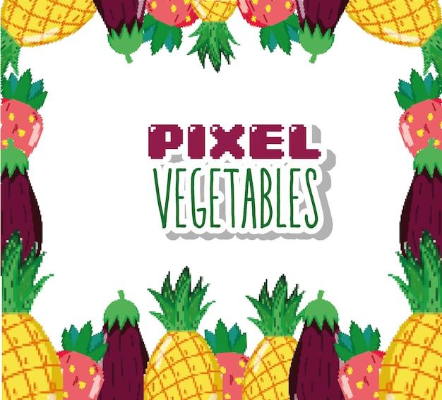 Dessins Animés De Légumes Pixels Télécharger Des Vecteurs