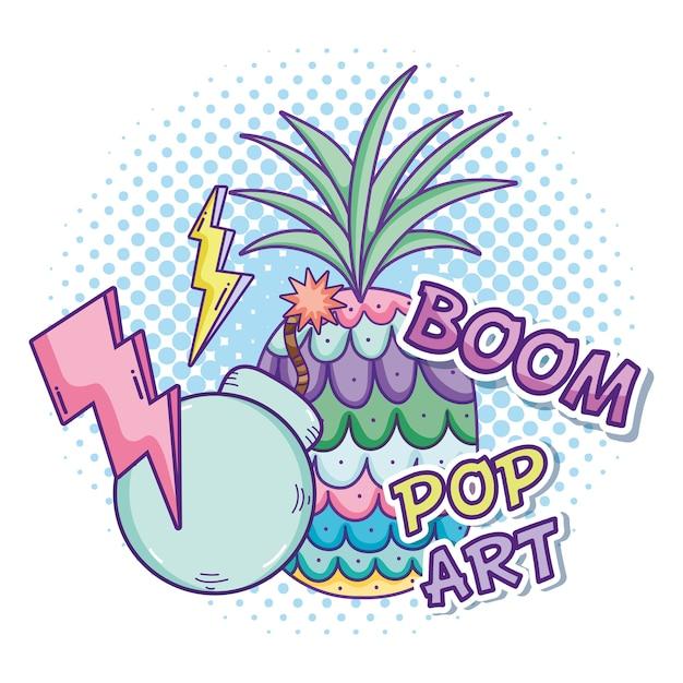 Dessins animés de pop art vector design graphique Vecteur Premium