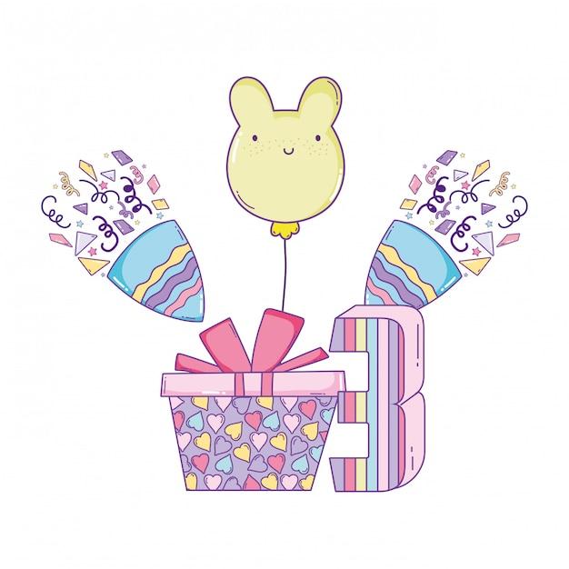 Dessins D'anniversaire Joyeux Vecteur Premium