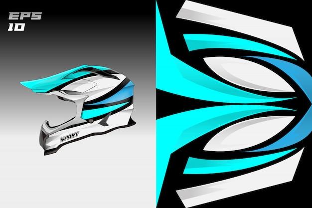 Dessins de décalcomanie de casque vectoriels dessins de livrée Vecteur Premium
