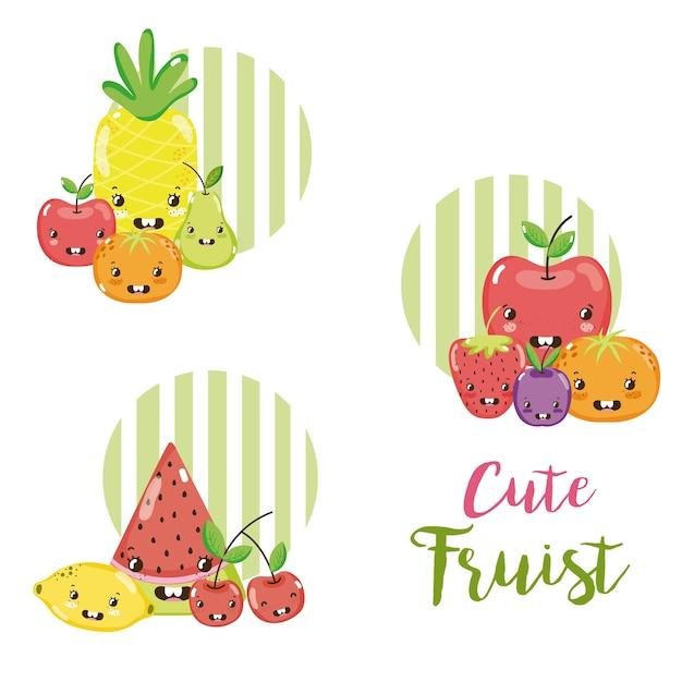 Dessins De Kawaii De Fruits Mignons Télécharger Des