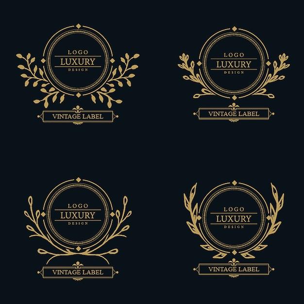 Dessins de logo de luxe étonnant de vecteur Vecteur gratuit