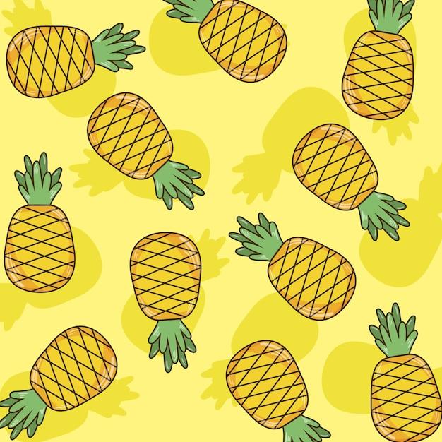 Dessins Mignons Fond Ananas Dessin Vectoriel Graphisme