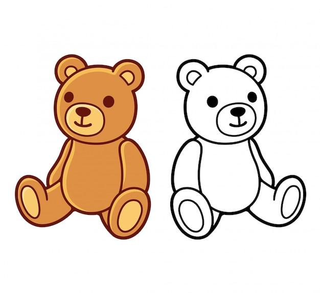 Dessins d'ours en peluche Vecteur Premium