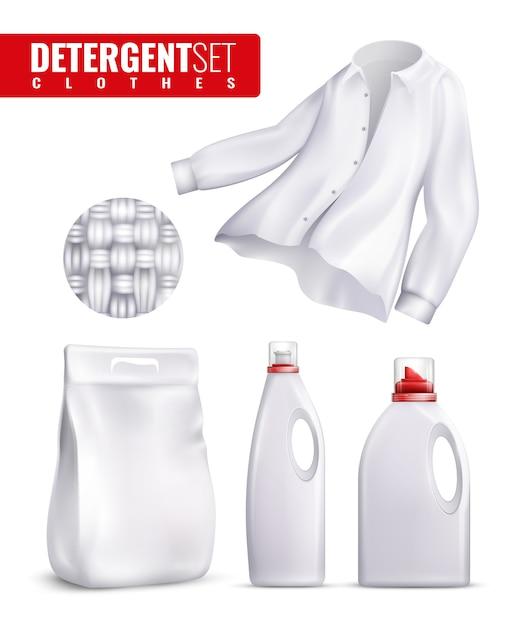 Détergents clothes icon set Vecteur gratuit