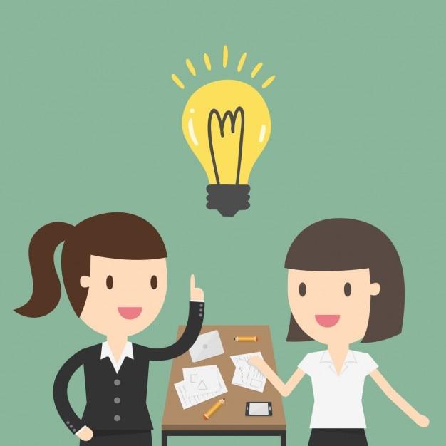 Deux Femmes D'affaires Travaillant Dans Le Bureau Vecteur gratuit