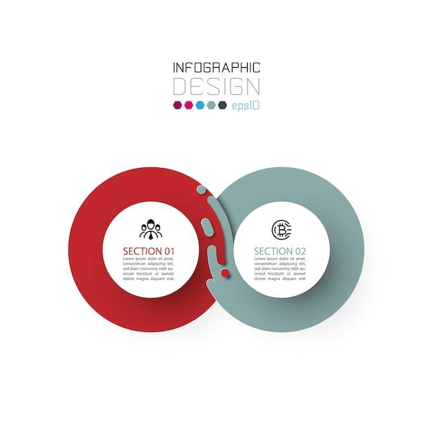 Deux Infographies De Cercle Harmonieux. Vecteur Premium