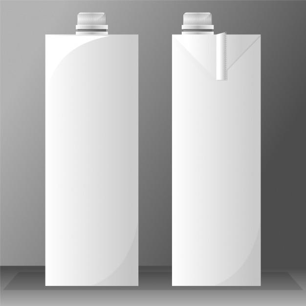 Deux tetrabriks de lait vides Vecteur gratuit