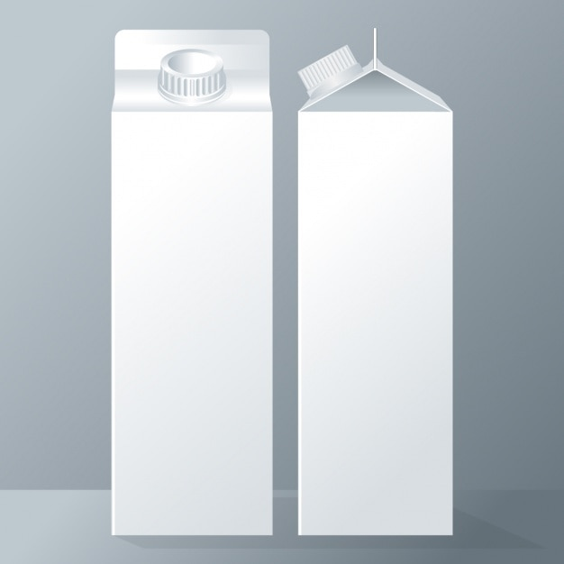 Deux tetrabriks laitiers Vecteur gratuit