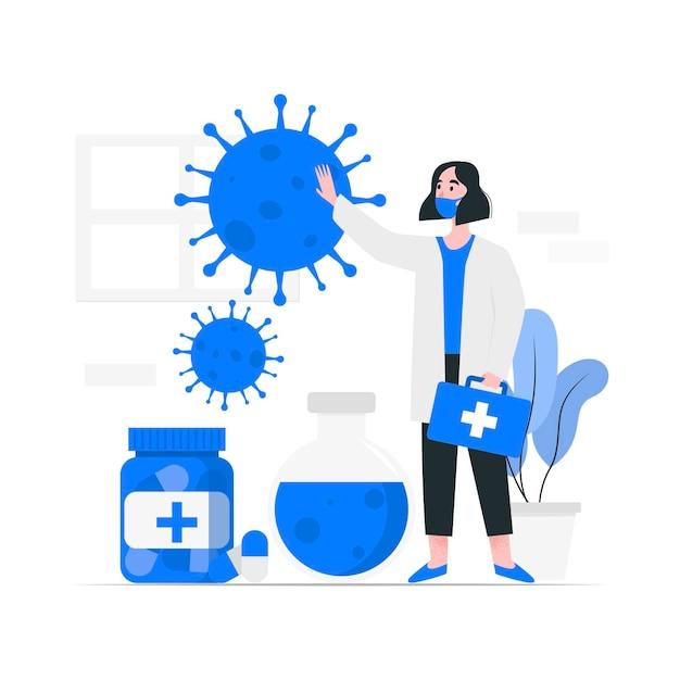 Développement D'un Antidote Contre Les Coronavirus Vecteur gratuit