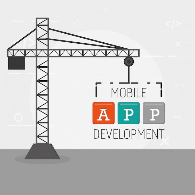 Développement D'applications Mobiles Vecteur gratuit