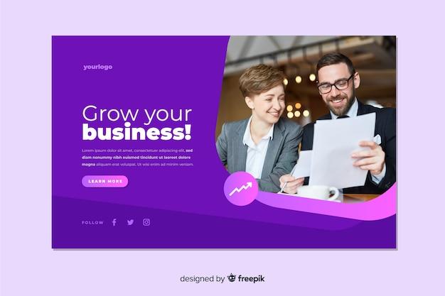 Développez votre page de destination avec une image Vecteur gratuit