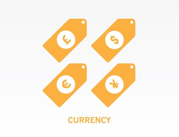 Devise Dollar Euro Livre Sterling Et Symbole Yen