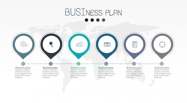 Diagramme affaires et éducation vector illustration Vecteur Premium
