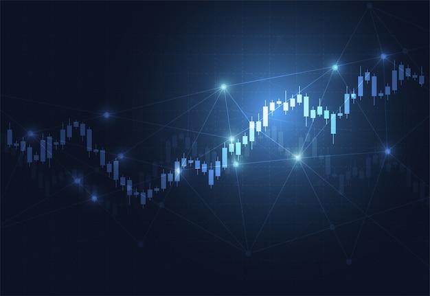 Diagramme de bougeoir d'affaires graphique de stock Vecteur Premium