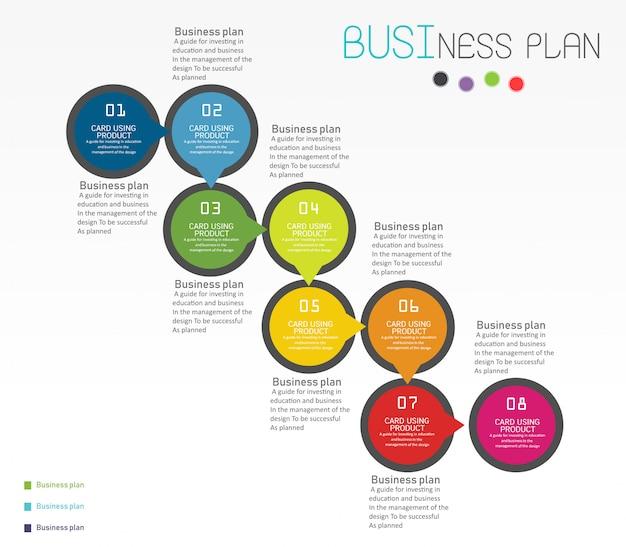 Diagramme entreprise et éducation Vecteur Premium
