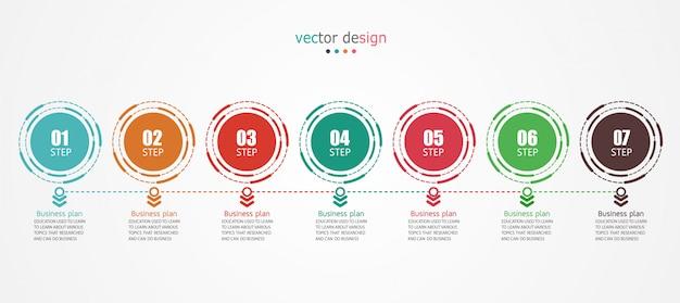 Diagramme entreprise utilisée dans la présentation de l'éducation Vecteur Premium