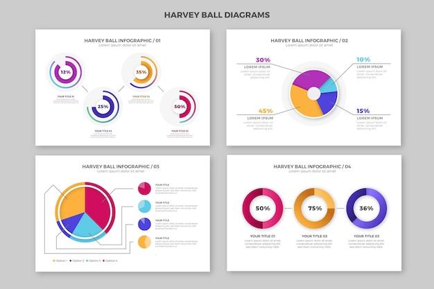 Diagrammes De Gradient De Balle De Harvey - Infographie Vecteur gratuit