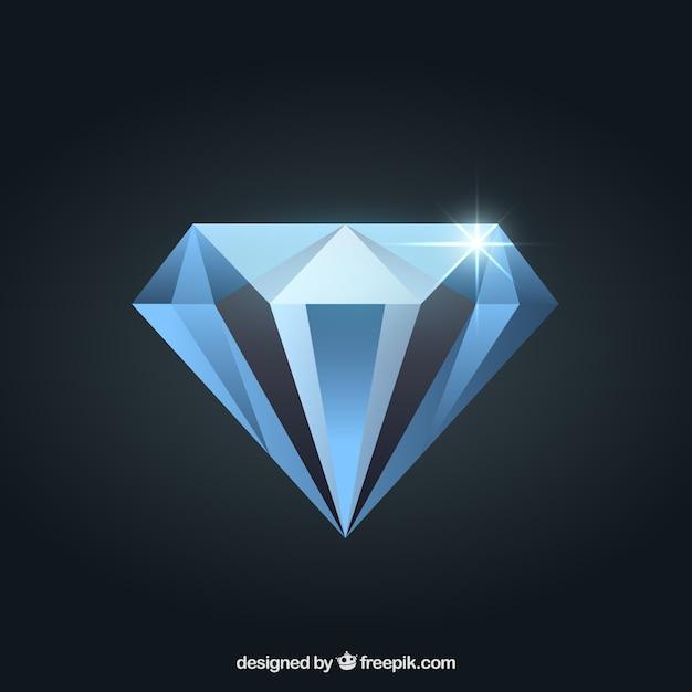 Diamant Vecteur Premium