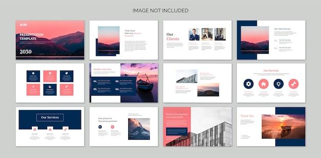 Diapositives De Présentation D'entreprise Avec Des éléments Infographiques Vecteur Premium